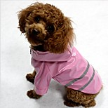Cat Dog Coat Rain Coat Moisture/Water Proof Reflective Band Dog Clothes Waterproof Illuminated Trendy Stripe Blue Red Yellow