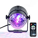 1pcs mini rgb 3w bola mágica de cristal levou palco lâmpada dj ktv disco laser luz luzes de festa som ir controle remoto projetor de natal