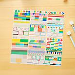 6 Pcs/Set Pvc Diary Sticker Phone Sticker Scrapbook Stickers