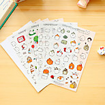 6 Pcs/Set Cartoon Fat Rabbit Diary Sticker Phone Sticker Scrapbook Stickers