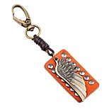 cheap -Keychains Jewelry Leather Alloy Wings / Feather Lovely Rock Gift Going out