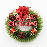 1pc 22 * 22 * 6 см красивая гирлянда веселая рождественская сосновая игла венок