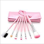 7 pcs Makeup Brush Set Synthetic Hair Full Coverage Wood Blush