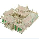 Недорогие -3D пазлы Пазлы Пазлы и логические игры Модель дерева Наборы для моделирования Игрушки Лошадь 3D Храм Шаолинь Домики Мода Для детской