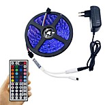 Light Bar Set 5M 5050 300 LED RGB Non-Waterproof 44 key Remote Control 12V 3A Power Adapter