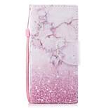 Кейс для Назначение Sony Xperia XA1 Xperia E5 Бумажник для карт Кошелек со стендом Флип С узором Чехол Мрамор Твердый Искусственная кожа