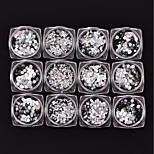 cheap -12 pcs Round Sequins Silvery Nail Art Design
