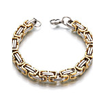 Men's Women's Chain Bracelet Formal Classic Stainless Steel Geometric Jewelry For Wedding Casual