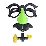 cheap -Big Size 3PCS Clown Glasses Costume Ball Round Frame Red Nose Whistle Mustache Ramdon Color