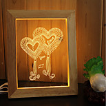 1 Set Of Home Decoration Acrylic 3D Night Light LED Lamp USB Mood Lamp, Photo Frame Light, Dimming, 3W, Love