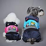 Собака Комбинезоны Одежда для собак На каждый день Мультфильмы Синий Розовый Костюм Для домашних животных