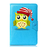 Universal Christmas Owl PU Leather Stand Cover Case For 7 Inch 8 Inch 9 Inch 10 Inch Tablet PC