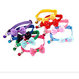 Collar Portable Breathable Foldable Bowknot Fabric Purple Red Blue Pink