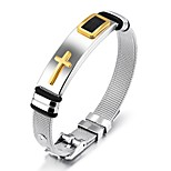 Men's Bangles Fashion Vintage Titanium Steel Cross Jewelry For Wedding Party