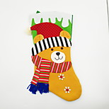 Large Non-Woven Fabric Christmas Stocking Christmas Ornament Bear