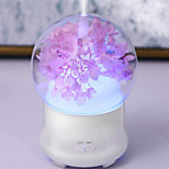 1pc LED Flower Shape(4 Options) Night Light Humidifier DC Powered 5V 2W Multi Light Source Colors