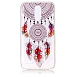 cheap -Case For LG K8 (2017) K10 (2017) Ultra-thin Transparent Embossed Pattern Back Cover Dream Catcher Soft TPU for LG K10 (2017) LG K8 (2017)