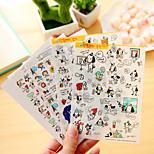 4 Pcs/Set Cartoon Dog Diary Sticker Phone Sticker Scrapbook Stickers