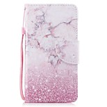 cheap -Case For Apple Ipod Touch5 / 6 Case Cover Card Holder Wallet with Stand Flip Pattern Full Body Case  Pink Marble Hard PU Leather