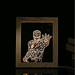 1 Set Of 3D Mood Night Light LED Lights USB Bedroom Photo Frame Lamp Gifts Warrior