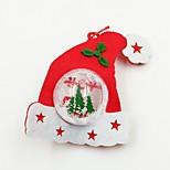 шляпа пластиковый шар нетканой ткани рождественский орнамент