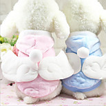 Cat Dog Coat Hoodie Dog Clothes Casual/Daily Keep Warm Angel & Devil Blue Pink Costume For Pets