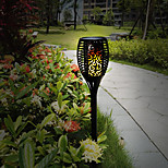 1PCS Solar Garden Torch Lights 96 LED Dancing Flame Lighting Outdoor Waterproof Lawn Lamp Solar Path Decoration Lights