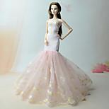 Платья Платья Для Кукла Барби Розовый Платье Для Девичий игрушки куклы