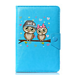 Universal Cartoon Owl PU Leather Stand Cover Case For 7 Inch 8 Inch 9 Inch 10 Inch Tablet PC