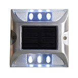1PCS Aluminum Solar 6-LED Outdoor Road Driveway Dock Path Ground Light Lamp White