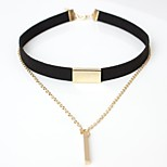 Women's Choker Necklaces Line Leather Alloy Simple Elegant Jewelry For Casual Going out