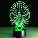 led 3d стерео визуальный творческий свет мечты романтический ночник (usb или 3 * aaa батарея без батареи