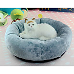 Cat Dog Bed Pet Cushion & Pillows Solid Soft Washable Gray For Pets