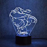 abordables -1pc Luz nocturna 3D Toca 7-Color Con puerto USB