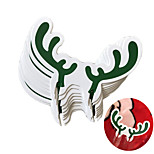 10 PCS Santa Elk Wine Cup Card Party Supply Drinkware Paper Card