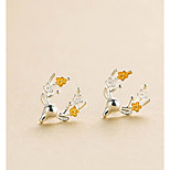 Men's Women's Stud Earrings Sweet Hiphop Alloy Animal Shape Jewelry For Daily Christmas