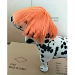 Cat Dog Wig Dog Clothes Stylish Striped Orange Costume For Pets
