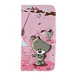 cheap -Case For Apple Ipod Touch5 / 6 Case Cover Card Holder Wallet with Stand Flip Pattern Full Body Case  Couple Bear Hard PU Leather