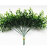 25см 10 шт. 10 листьев / ветка мини эвкалипта зеленая трава домашнее украшение искусственные цветы