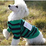 cheap -Dog Sweatshirt Dog Clothes Casual/Daily Stripe Green Red