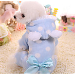 Dog Jumpsuit Dog Clothes Casual/Daily Polka Dot Pink Blue Costume For Pets