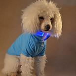 Недорогие -Собака Футболки Одежда для собак Блестящие На каждый день Однотонный Желтый Красный Зеленый Синий Розовый Костюм Для домашних животных