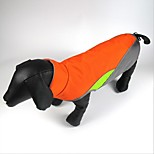 Cat Dog Coat Moisture/Water Proof Waterproof Vest Pot Filler Reflective Belt Cold-proof Clothing Dog Clothes Fabric Polar Fleece