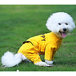 Dog Jumpsuit Dog Clothes Breathable Casual/Daily Solid Gray Yellow Costume For Pets