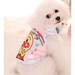 Dog Shirt / T-Shirt Dog Clothes Casual/Daily Print Blue Pink Costume For Pets