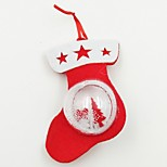 Shoe Plastic Ball Non-Woven Fabric Christmas Ornament