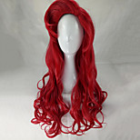 Women Synthetic Wig Capless Long Wavy Watermelon Red Lolita Wig Party Wig Halloween Wig Costume Wig