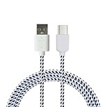 Cwxuan Nylon Woven USB 2.0 to USB 3.1 Type-C Sync Data Charging Cable (180CM)