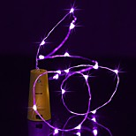 BRELONG 2M 20 LED Wine Bottle Copper String Lights For Christmas Wedding Party  Decorations
