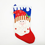 Large Non-Woven Fabric Christmas Stocking Christmas Ornament Santa Claus